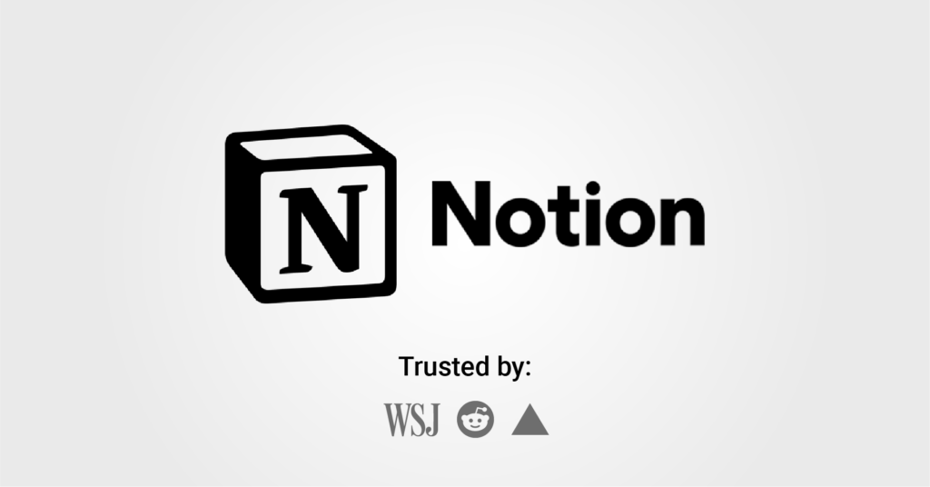 Notion is a great team management software