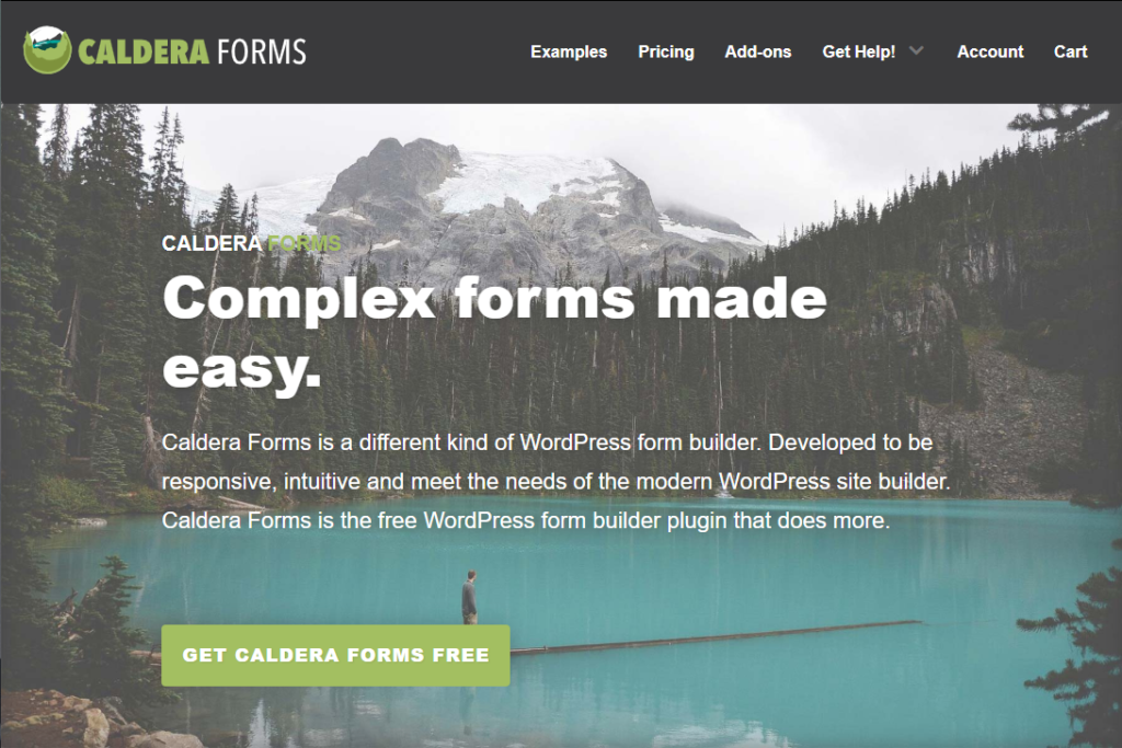 Caldera Forms can be a good choice for Gravity Forms alternative