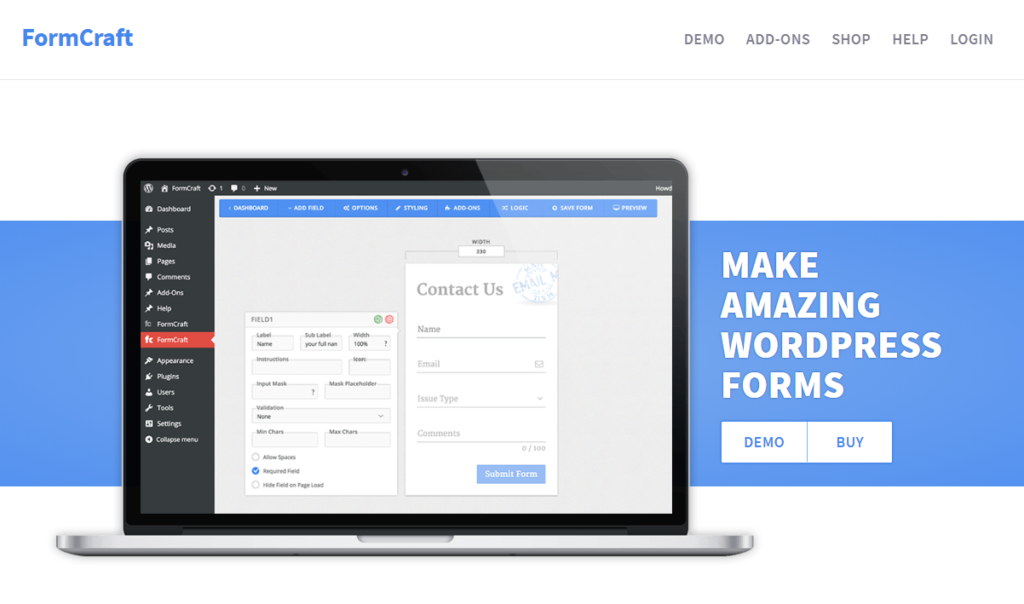 FormCraft - a smart Contact Form 7 alternative