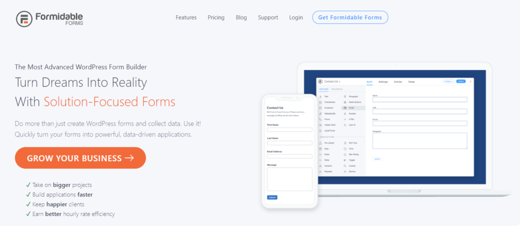 Formidable Forms - an intuitive Contact Form 7 alternative