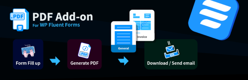 Fluent Forms PDF Addon - one of the greatest WordPress PDF plugins