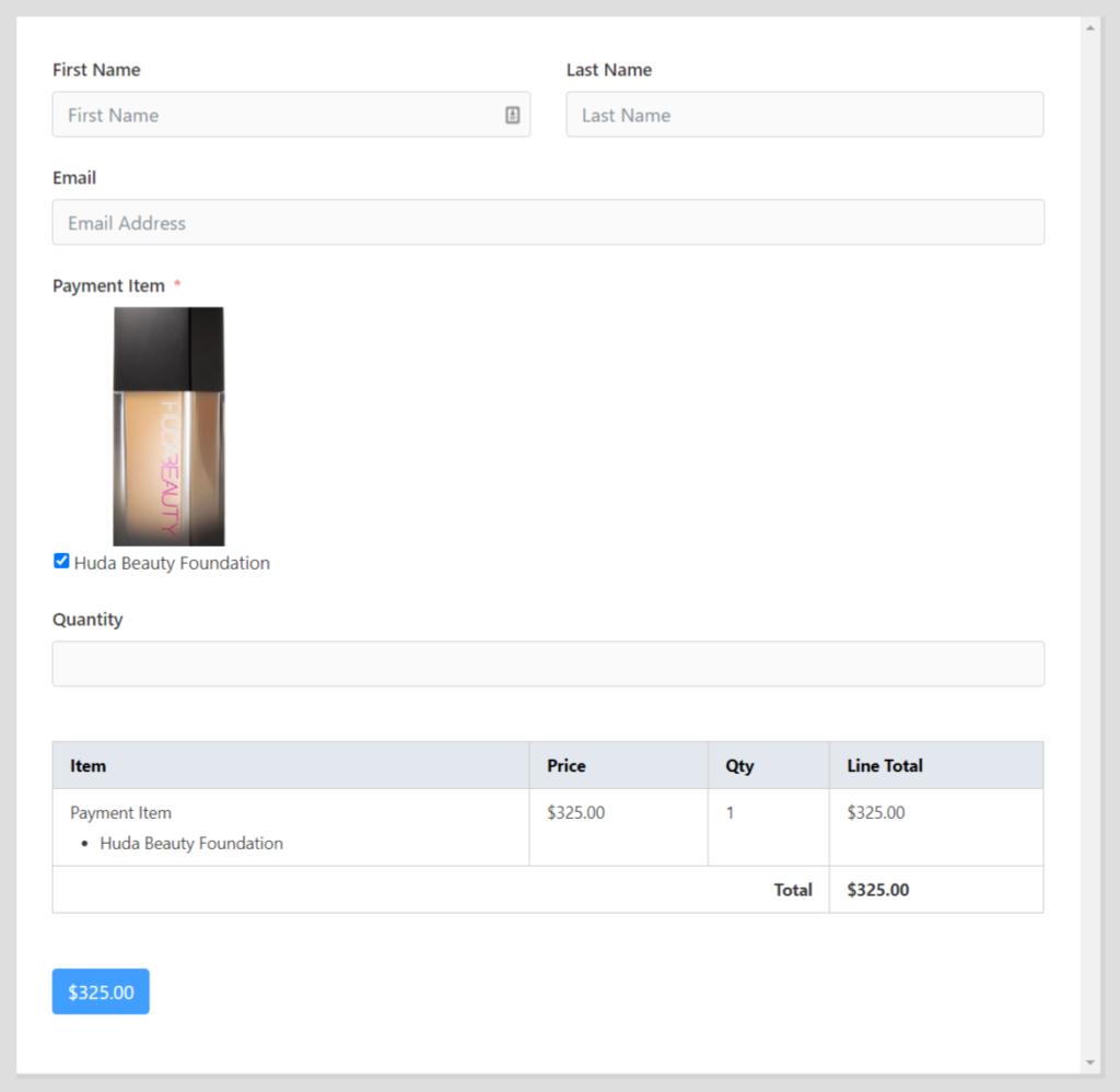 Fluent Forms PayPal integration
