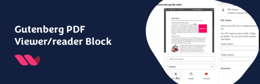 Gutenberg PDF Viewer Block - one of the best WordPress PDF plugins
