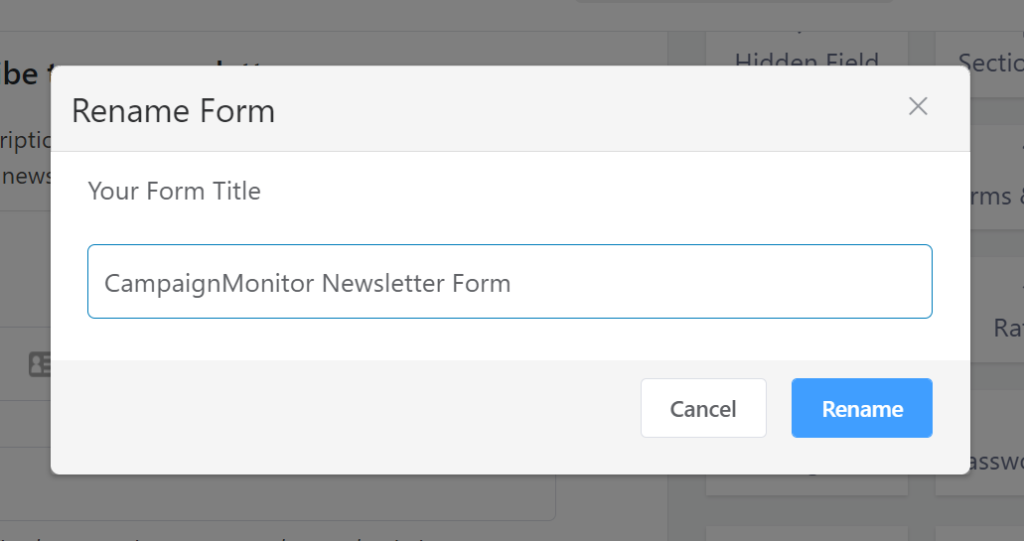 Rename a form in WP Fluent Forms