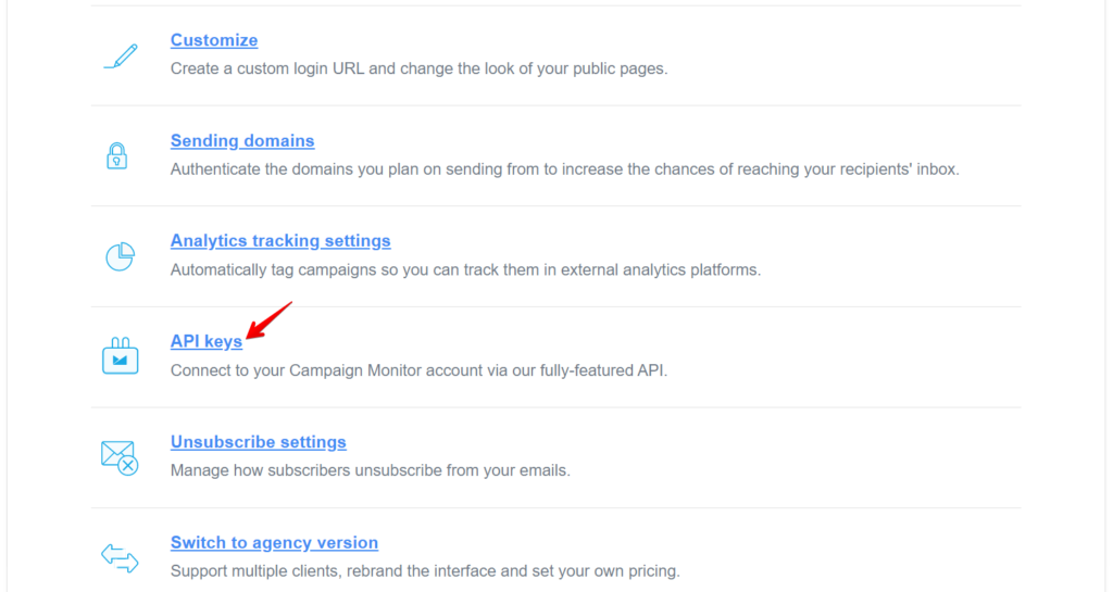 Email Marketing with Campaign Monitor - API Keys