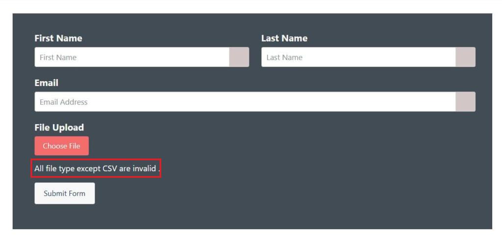 Helpful error messages optimize forms