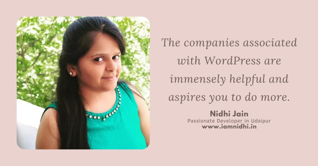 Women in WordPress - Nidhi Jain
