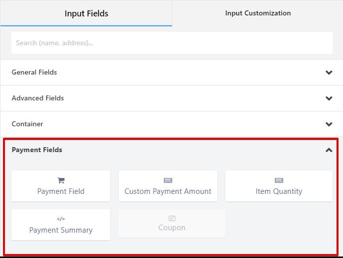 payment fields - Fluent Forms